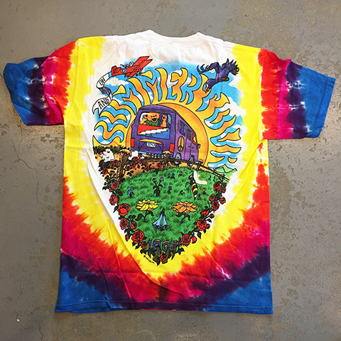 Grateful Dead - Summer Tour Bus 1994 tie-dye T-shirt