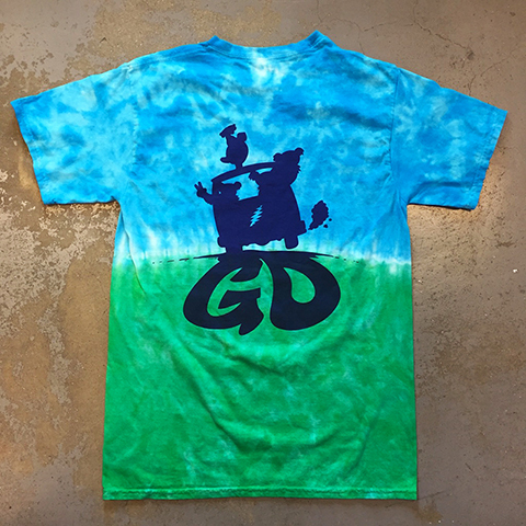 Grateful Dead - Dancing Bears On VW Tour Bus Tie-Dye T-shirt